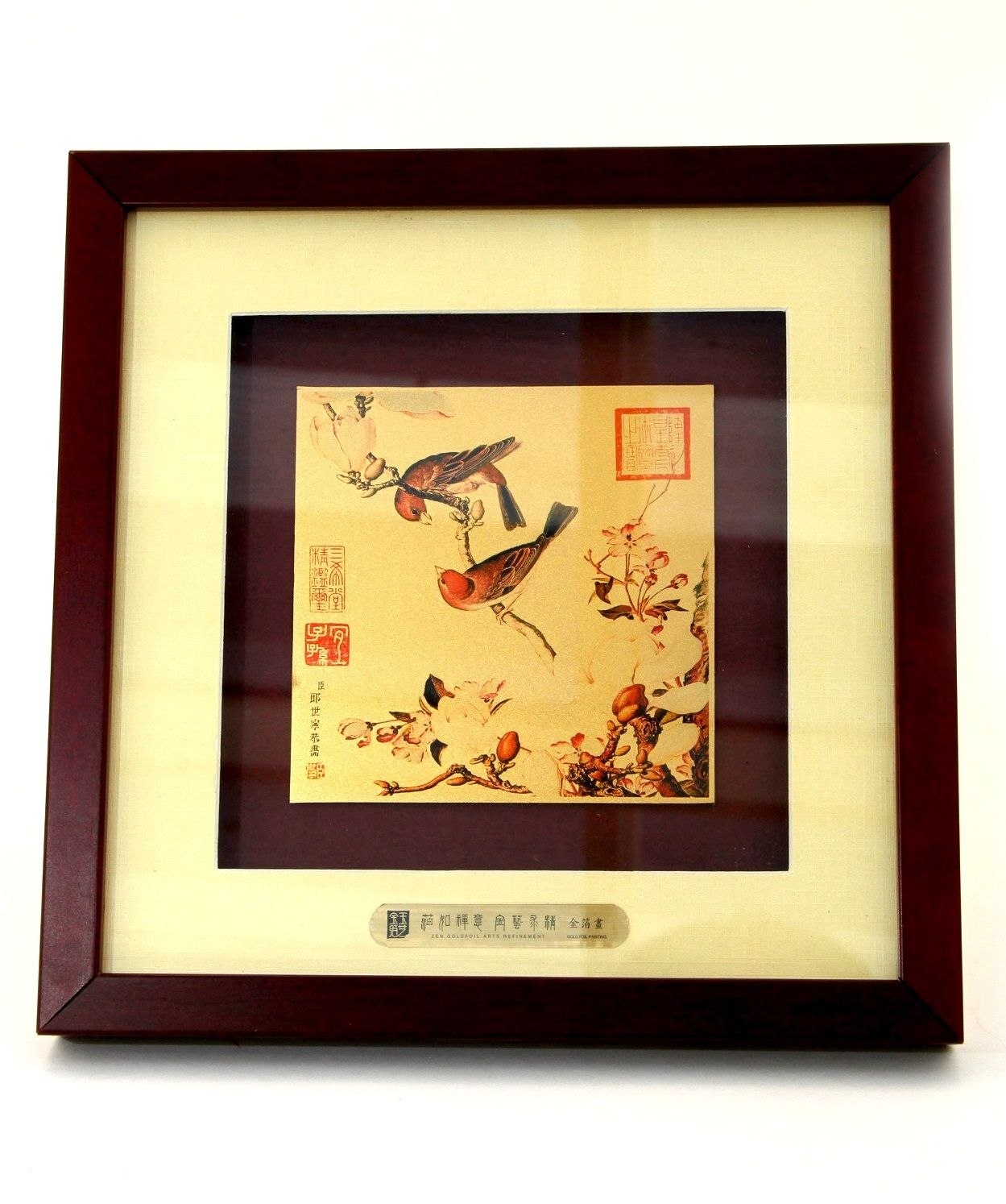 One of the Famous Qing Dynasty Print (Printed on Golden Card)
